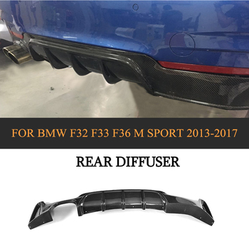 Car Rear Bumper Diffuser Lip for BMW F32 F33 2 Door F36 4 Door Only M Sport 435i 440i 2013 - 2017 Carbon Fiber Car Spoiler image