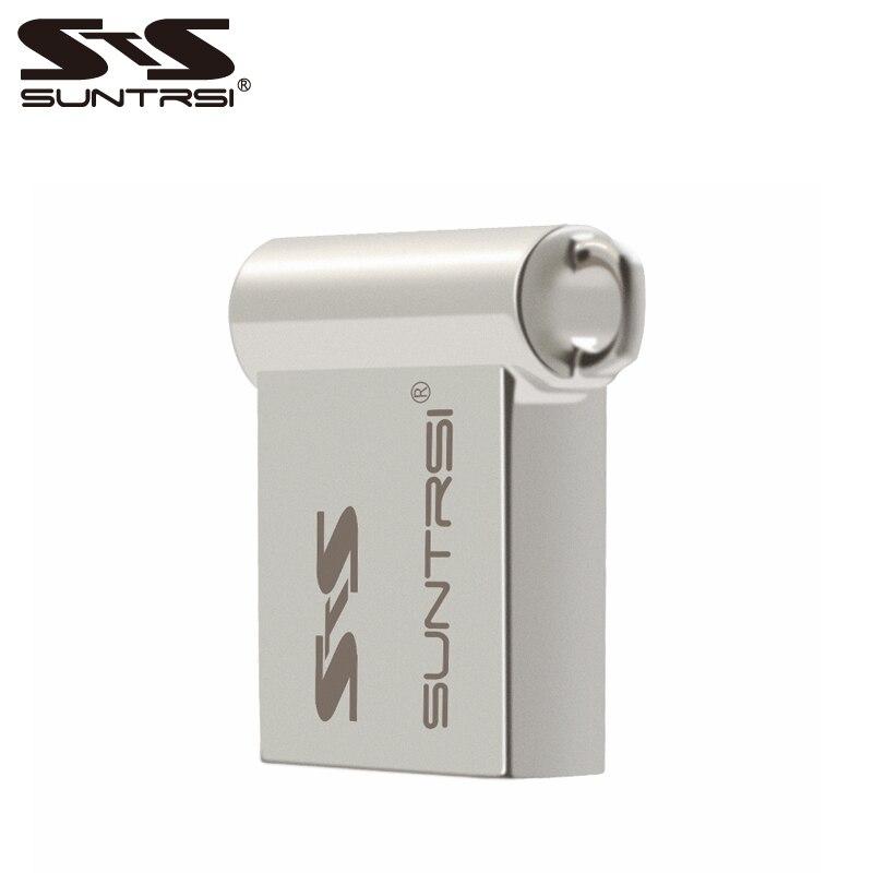 Suntrsi מחיר הסיטוני כונן עט כונן USB Flash מתכת Pendrive מקל USB 64 GB מיני פלאש usb קיבולת אמיתית לוגו מותאם אישית