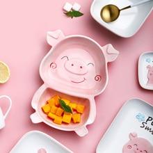 Bandeja de almacenamiento de cerámica creativa forma de dibujos animados bandeja de servicio Restarant plato de postre plato de fruta mejores bandejas de exhibición para la decoración del hogar
