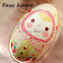 50pcs/Lot  Big Tin box Prince Princess Easter Egg Candy box and Storage case for Wedding and Baby Shower  Favors