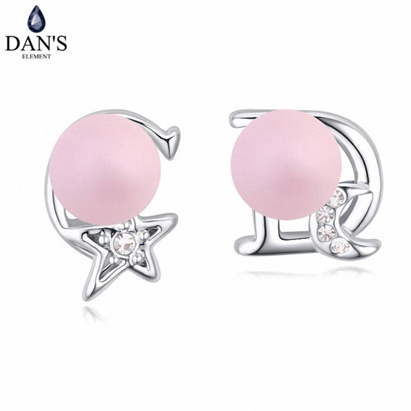 DANS 5 Colors Real Austrian crystals Stud earrings for women Earrings s New Sale Hot Round 120810