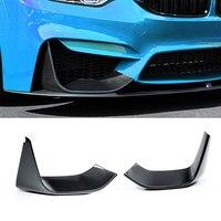 Carbon Fiber Front Lip Splitter Flap for BMW 3 Series F80 M3 4Series F82 F83 M4 2012 2017 2PCS Car Styling