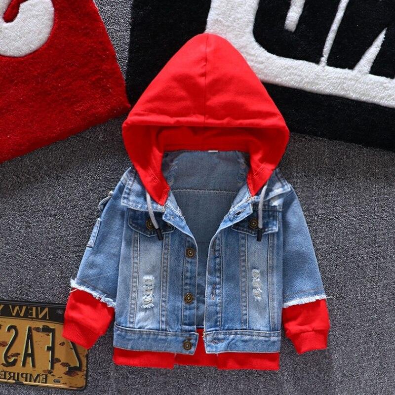 Jaqueta jeans meninas crianças 2019 outono meninos