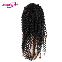 Addbeauty Full Lace Wig Virgin Brazilian Deep Wave Human Baby Hair Unprocessed Pre Plucked Natural Hairline For Black Women 130%