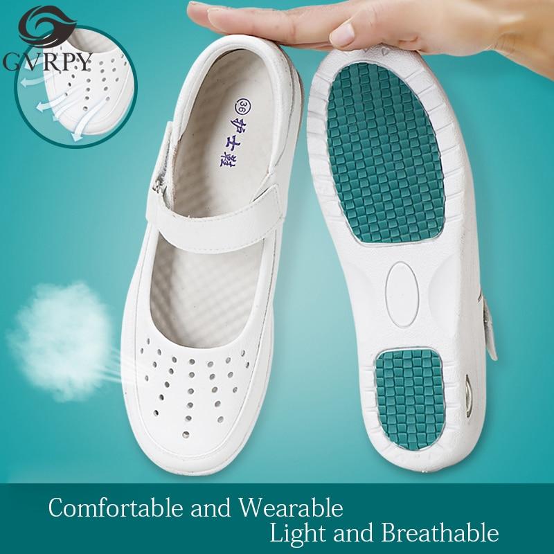 Nurse Shoes Wedges Breathable Women Shoes Hospital Beauty Salon Laboratory Soft Bottom Comfortable Non-slip Medical Shoes