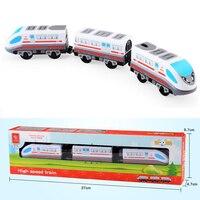 W124 Livraison Gratuite CRR L'UEM Train Électrique Ensemble En Bois rail voiture jouet Enfants jouet de transport Compatible avec Thomas en bois rail