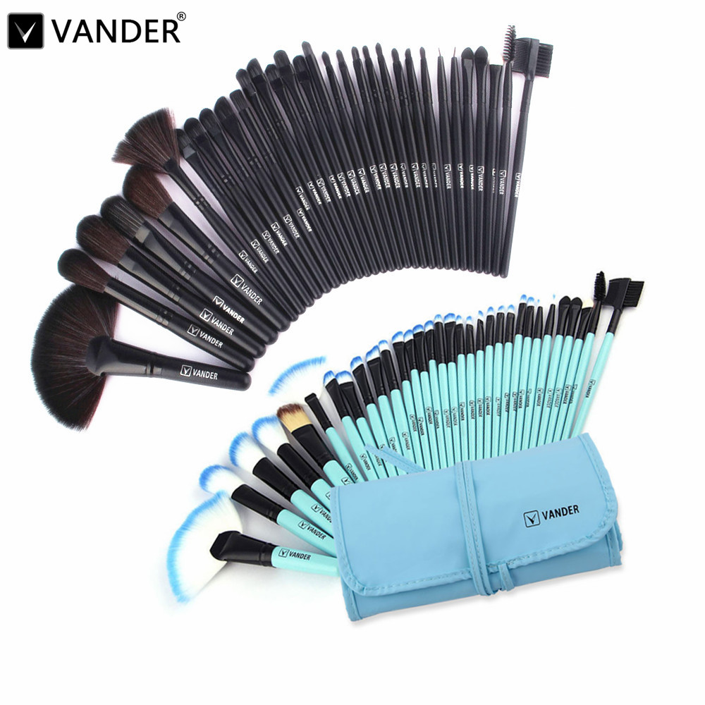 Vander Professional 32 Pcs Cosmetic Makeup Make-Up Brushes Set Face&eye Powder Foundation Beauty Tools Kits + Pouch Bag цена
