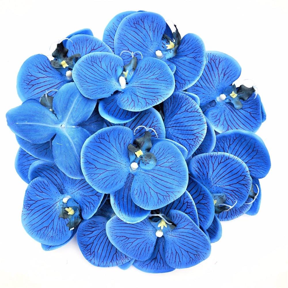 100pc 10cm Moth Orchid Flowers Sakura Emulate Decorative Artificial