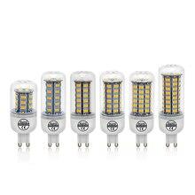 G9 Рождественский Bombillas светодиодный кукурузный светильник 7 Вт 12 Вт 15 Вт 18 Вт 20 Вт 25 Вт 5730 SMD светодиодные лампы AC 200-240 В люстра светодиодный светильник