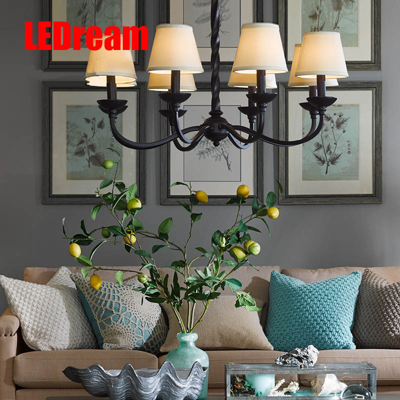 American country droplight contracted and modern creative cloth art, wrought iron lamp sitting room dining-room lamp bedroom ledream contracted and creative personality sitting room dining room art glass chandelier american cherry branches pendent lamp