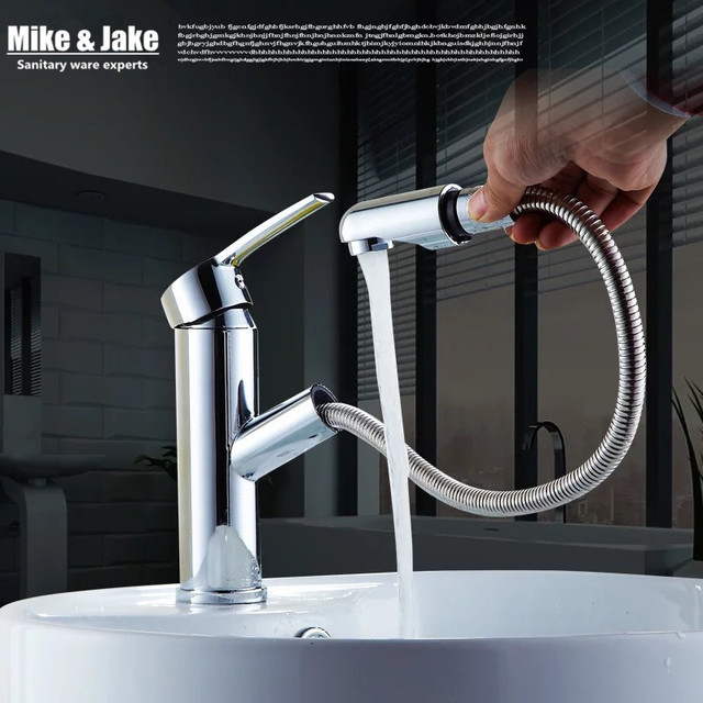 Bathroom Pull out basin faucet bathroom water tap with sprayer ...