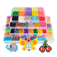 Hot Selling Aqua Beads Set 3D Puzzle Toys With Templates Perler Beads Aquabeads Perlen Kids Educational