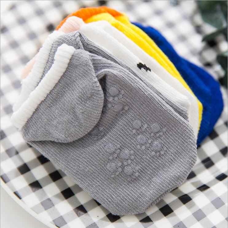 Lytwtw של רצפת תינוק ילד ילדה ילדים ילדי חיוך תינוק כותנה אנטי להחליק החלקה נעל פעוט גרב פסים יילוד זול דברים