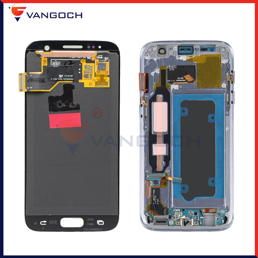 Original Super AMOLED Screen For Samsung Galaxy S7 LCD G930 G930F Display Digitizer Assembly free gift