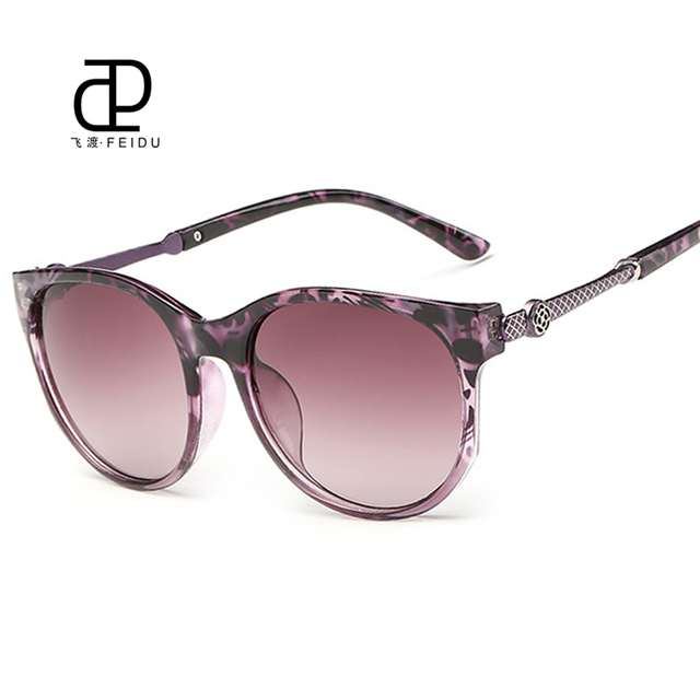 dc4e3135df5f FEIDU Fashion Cat Eye Sunglasses Women Brand Designer Mirror Sun Glasses UV Women's  Glasses For Driving Oculos De Sol Feminino