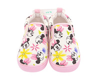 Disney Kids Shoes Girls Minnie Canvas Cotton Fabric Casual Sneakers Toddler Children Pink Shoes Cute Princess Soft Flat Shoes