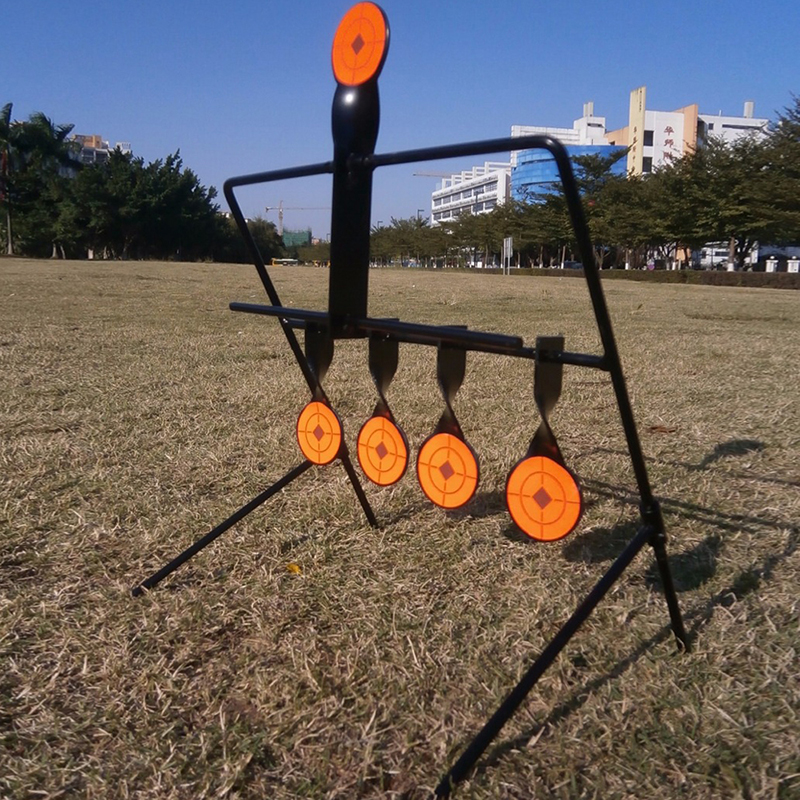 Outdoor Tactical Airgun Paintball Airgun 5 Plate Reset Target For Improved Shooting Shooting Tactics and Techniques
