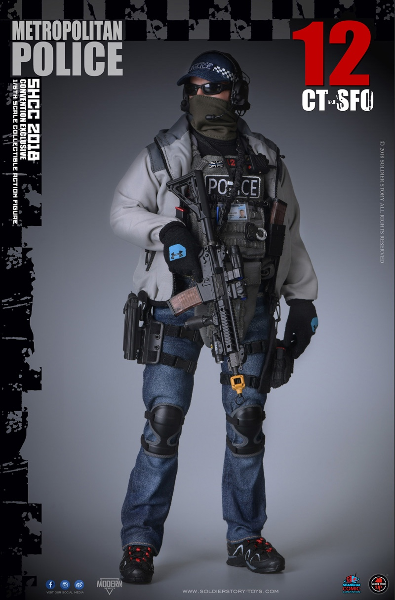 For Collections Full set doll 1/6 United Kingdom London police CT-SFO 2018SHCC full set doll toy Colletible with box 1