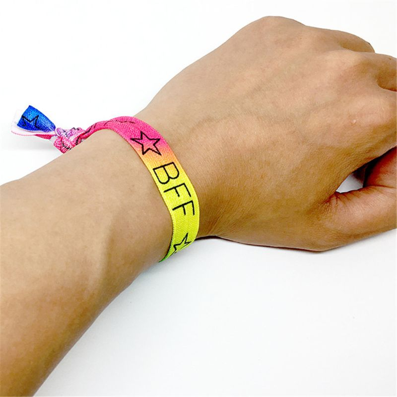 12Pcs/set Multicolor Wristbands Bracelets Ribbon Bag Ties Party Supplies Favors Campaign Toys Adult Kids Random Color