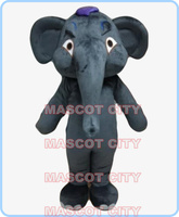 mascot dack grey elephant mascot costume adult size hot sale cartoon elephant theme anime cosplay costumes carnival dress 2575