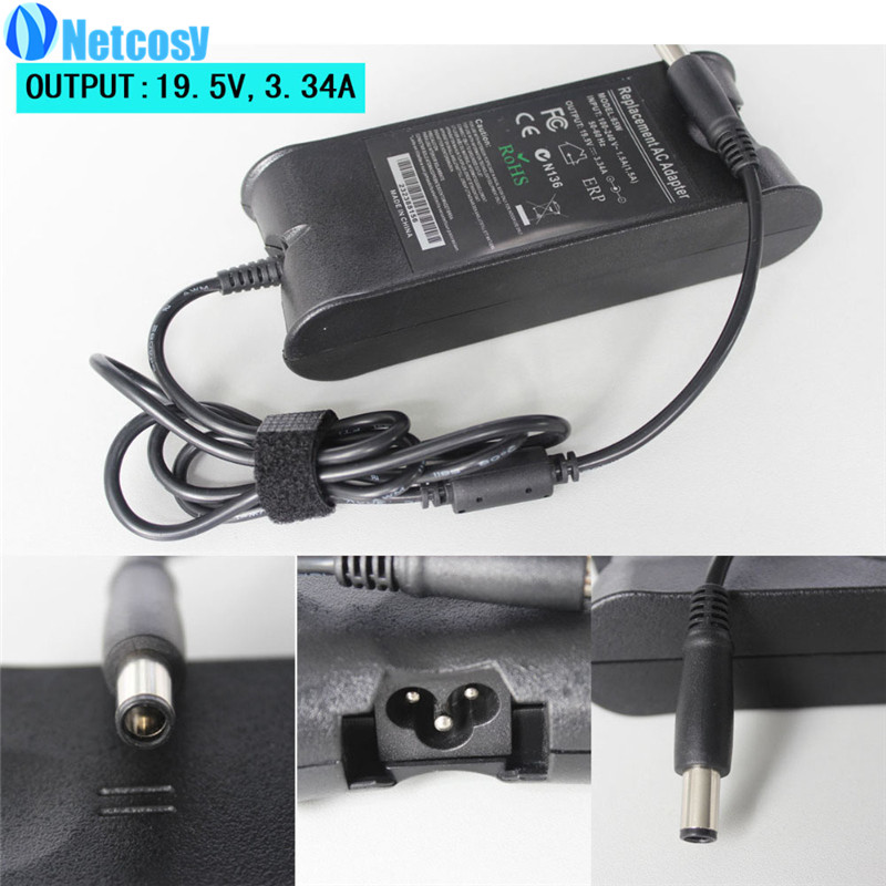 Netcosy AC Adapter Power Charger for Dell Laptop Computer, 65W