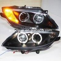 Для bmw для E85 Z4 LED Ангельские глазки фара би ксенон проектор lens2003 2008 год для оригинального автомобиля с галогенная лампа sn