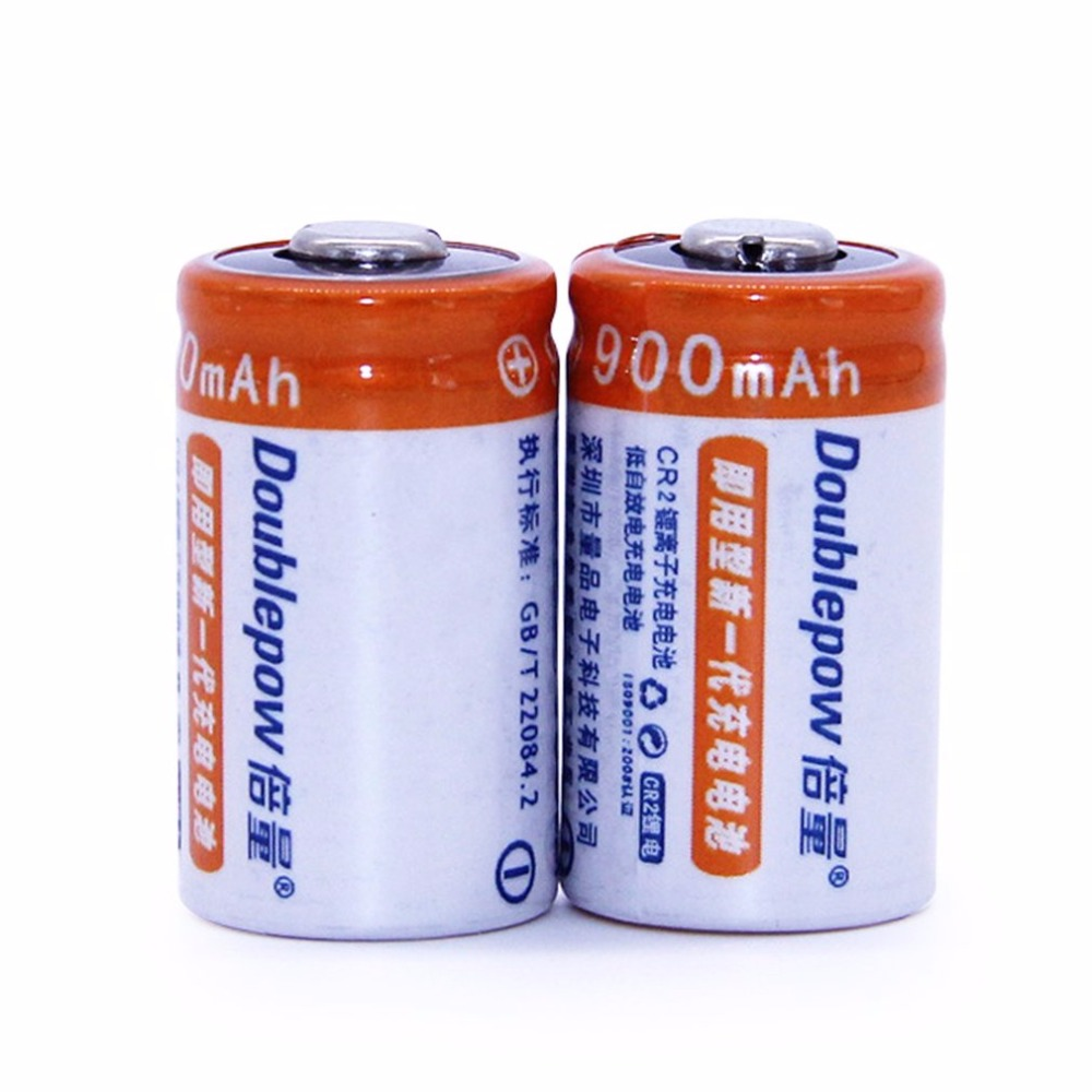 цена на Doublepow 2PCS/SET CR2 3V 900MAH High Capacity Rechargeable Battery Stable High Performance Lithium Battery for Camera