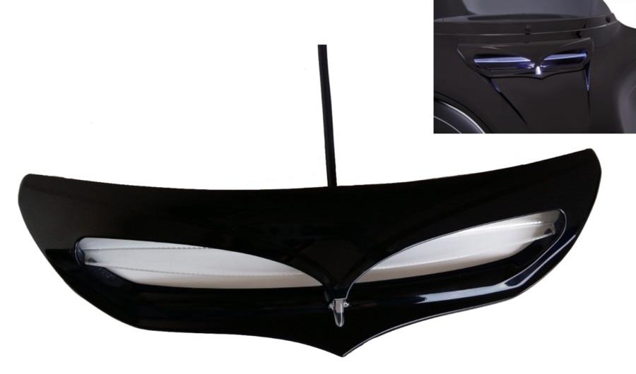 Черный LED подсветка обтекатель впускной совок отделкой на 2014-2016 модели туринг Харлей FLHT FLHX