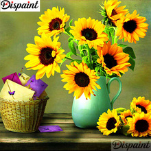 Dispaint Full Square/Round Drill 5D DIY Diamond Painting Sunflower flower 3D Embroidery Cross Stitch Home Decor A10974