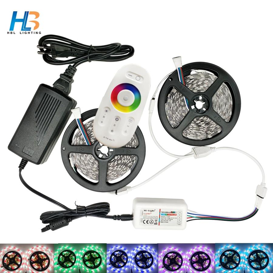 HBL Striscia Luminosa A LED 5050 RGBW RGBWW 5 M 10 M ha condotto Nastro 60 LEDs/m ha condotto la striscia + Controller RF + DC 12 V Power Adapter Set per casa