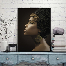 Queen Of Sheba Black Women Paintings African Woman Poster Canvas Wall Art Home Decor