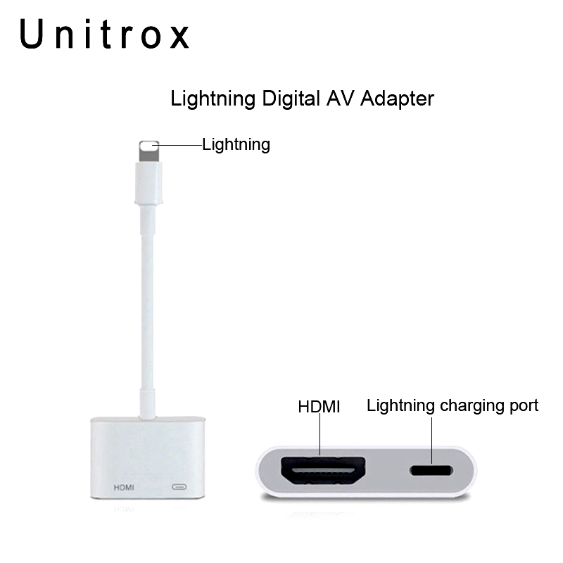 2018 New For Lightning to Digital AV HDMI Adapter 4K USB Cable Connector Up To 1080P HD For Iphone 8/8p/6/6s/7/7P/Ipad Air/Ipod