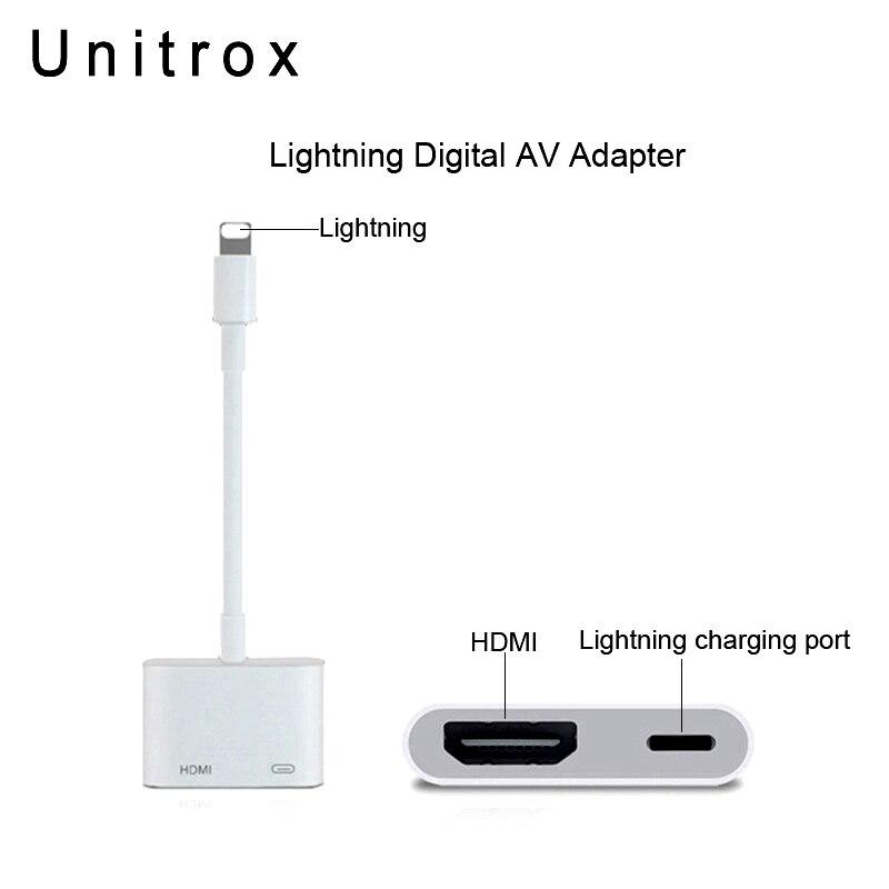 2018 Nouveau Pour La Foudre À AV Numérique HDMI Adaptateur 4 k USB Câble Connecteur Jusqu'à 1080 p HD Pour iphone 8/8 p/6/6 s/7/7 p/Ipad Air/Ipod