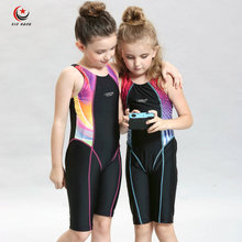 Girls One-piece Swimwear Baby Fast Swim Swimsuits Kids Competition Boxers Swimming Suits Beach Wear Surfing Cloth Diving Suits