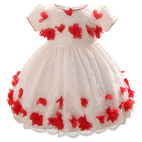 New Flower Girl Dress Princess Party Costume Summer Dress Baby Kids Clothes Weeding Gown Toddler Girl