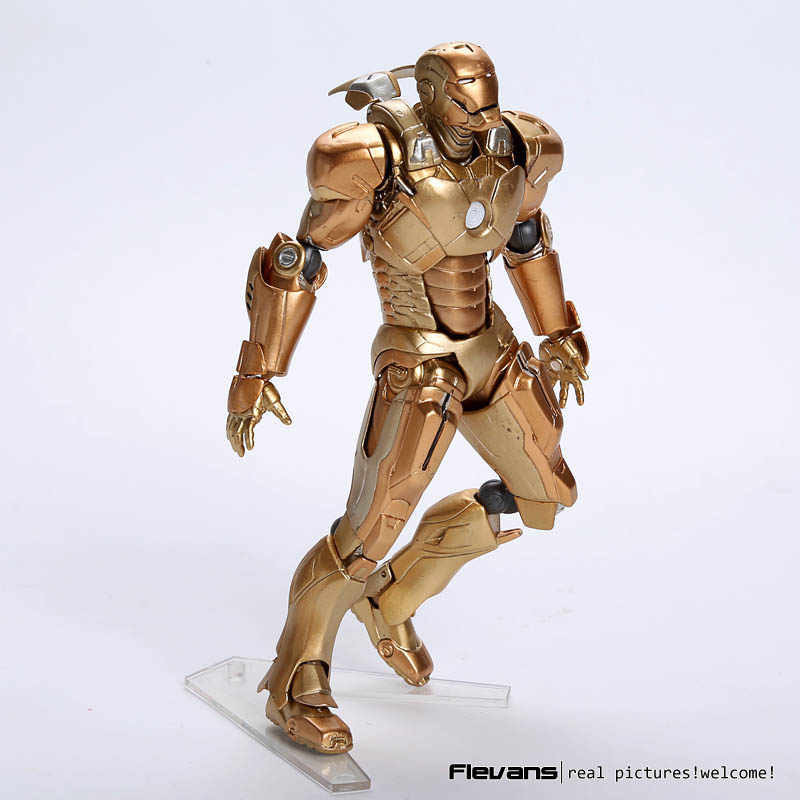 SCI-FI Revoltech Series NO. 052 MK XXI do Homem de Ferro Mark 21 PVC Action Figure Collectible Modelo Toy 15.5 cm