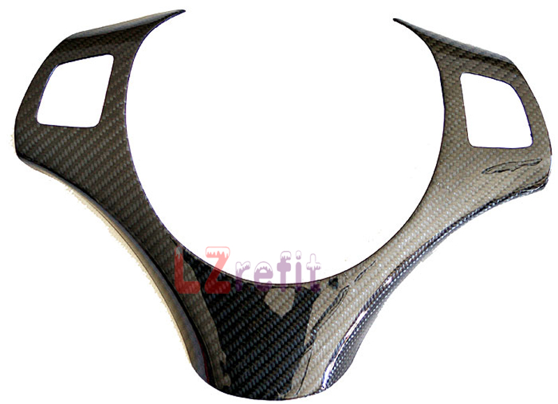 Real Carbon Fiber Steering Wheel Trim Cover For BMW E87 1-Series