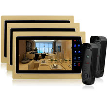 Homefong 10″ TFT LCD Touch Key Intercom Doorbell System Video Door Phone Home Security Monitor support  Talking Function