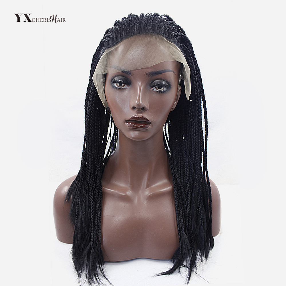 Senegalese Twist Lace Front Wigs for Women Synthetic Black and Brown Natural Color 18 inch 400 g/piece Full Lace Braided Wigs