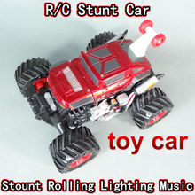 Free Shipping Special R/C stunt and dancing car, special new style with light car,special children toys