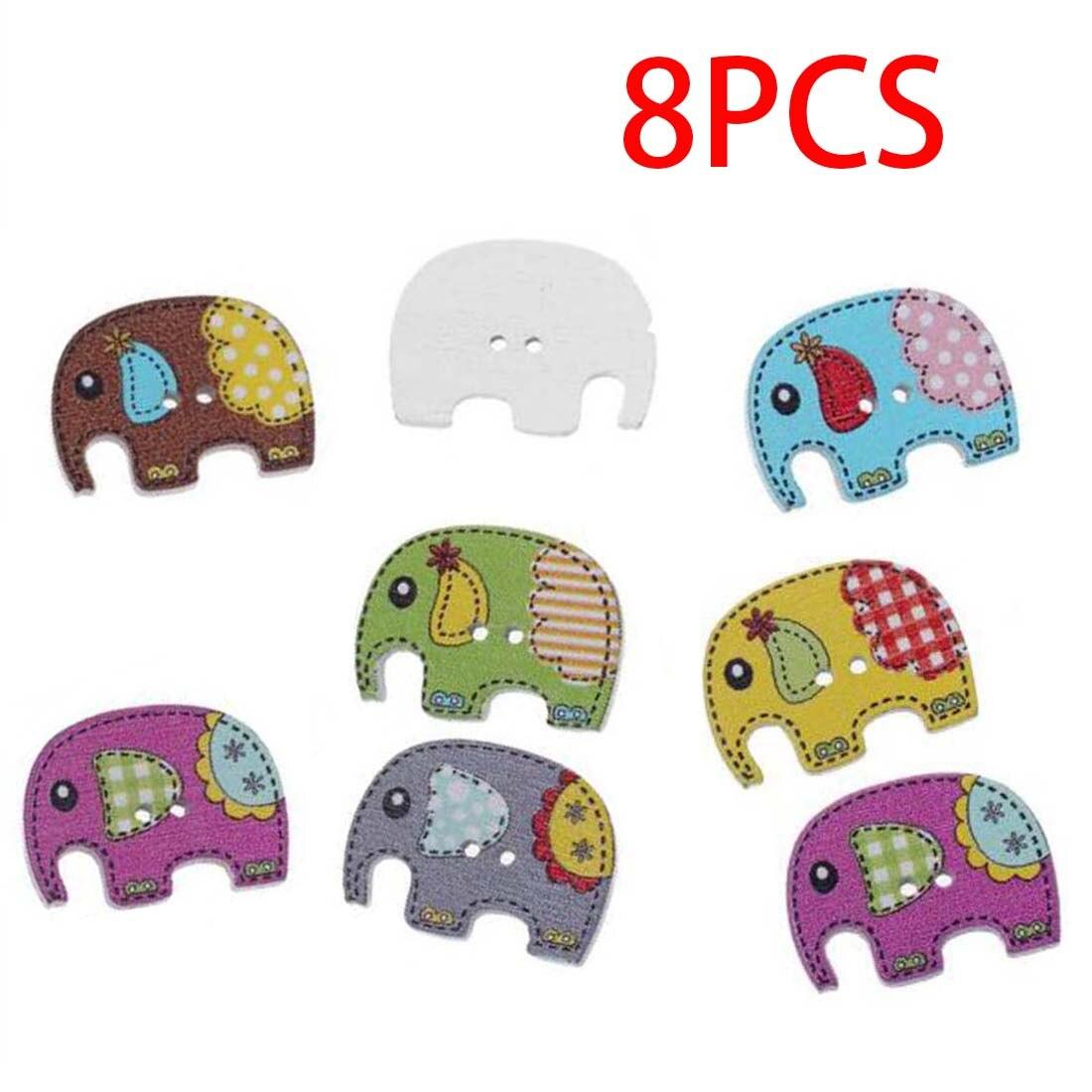 ᐅ8 unids color mezclado madera Costura botón scrapbooking Elefante ...