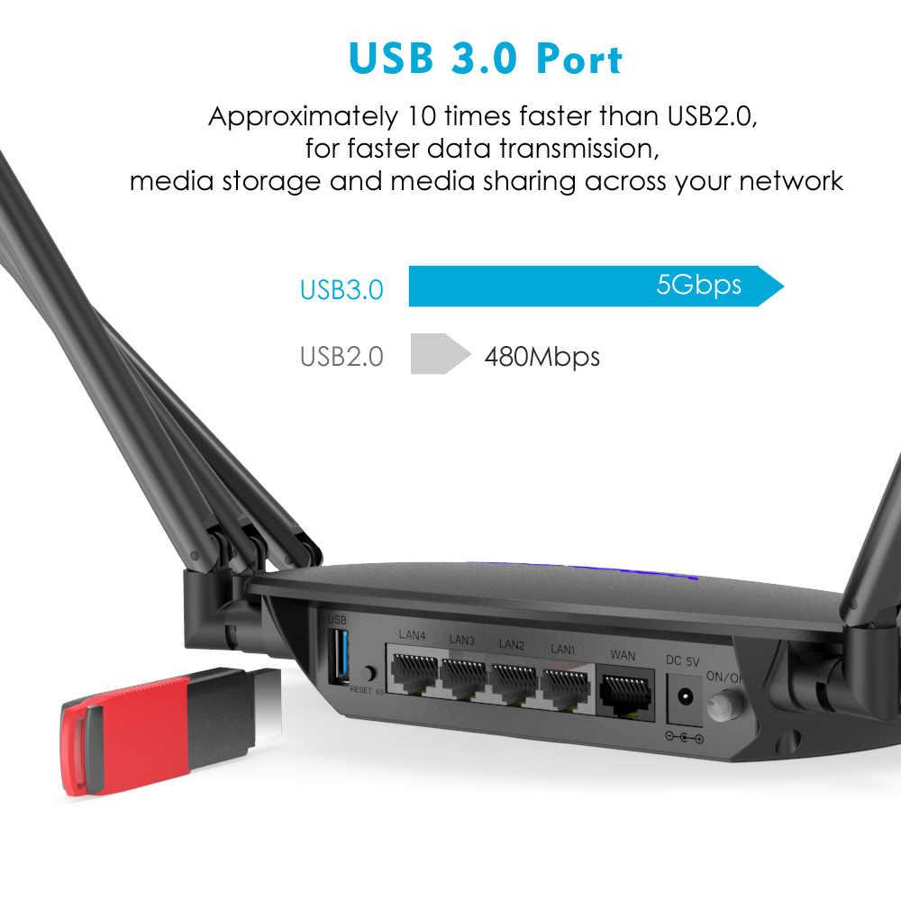 Wavlink AC2100 Smart двухдиапазонный умный Wi-Fi маршрутизатор с Touchlink беспроводной WiFi маршрутизатор 5 ГГц/1733 Мбит/с + 2,4 ГГц/300 Мбит/с гигабитная Lan