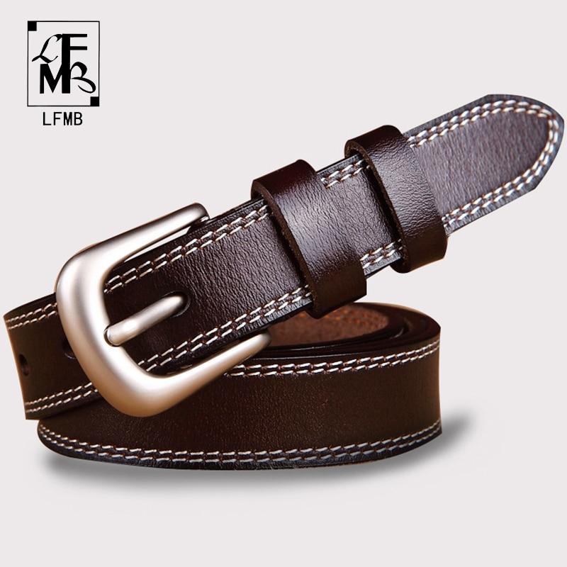 [LFMB]  belts   for women strap male genuine leather jeans women genuine leather cowhide leather Pin buckle ceinture homme