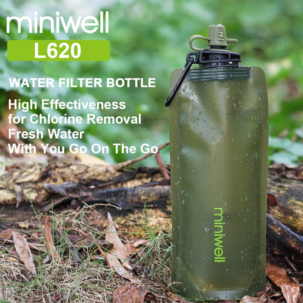 Miniwell New Design Portable Water Filter Emergency Survival Kit For Camping,hiking And Outdoor Sports