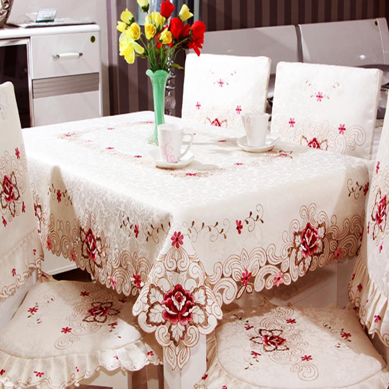oval redondo cuadrado mantel rectangular bordado hueco tabla abanderado caf bandera de mesa de comedor cubierta
