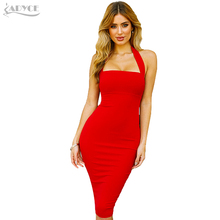 Summer Fashion Women Sexy Halter Dress In Knee High Elegant Clubwear Dress