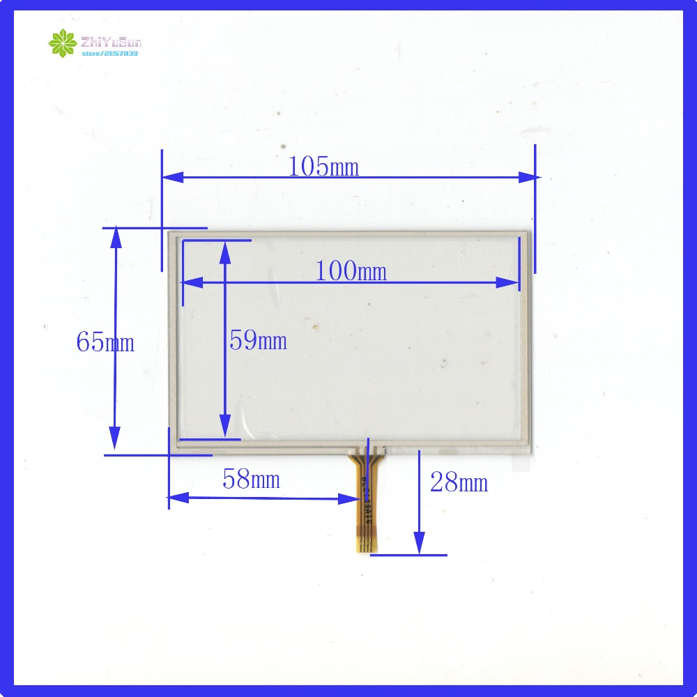 hight resolution of zhiyusun wholesale 045025 4 5inch for gps compatible 105mm 65mm touch screen 4 wire resistive usb touch panel overlay kit