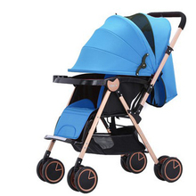 Luxury baby folding strollers stroller folded newborn carriage stroller stroller can sit or lie High bb purple prams