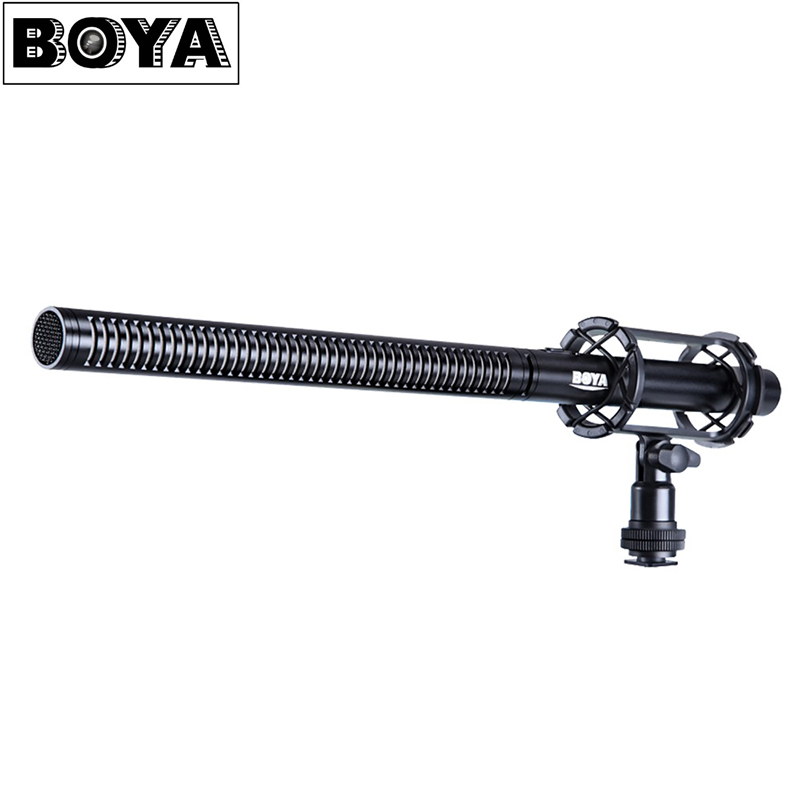 BOYA BY-PVM1000L Professional Camera Video Broadcast Condenser Interview MIC 3.5mm Microphone for Canon Nikon Sony DSLR SLR DV boya by m1 lavalier lapel omnidirectional condenser recording microphone for iphone nikon canon youtube vlogging live broadcast