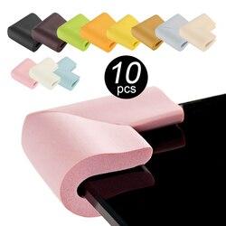 Protetor de canto de mesa de vidro, proteção de vidro de forma u para bebês, animais espessos de design, macio, bonito, 10 peças